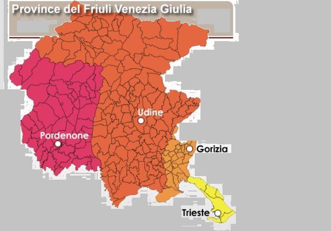 Cartina Friuli Venezia Giulia Province.M5s Fvg Ritorno Alle Province Ossessione Di Fedriga Friulisera